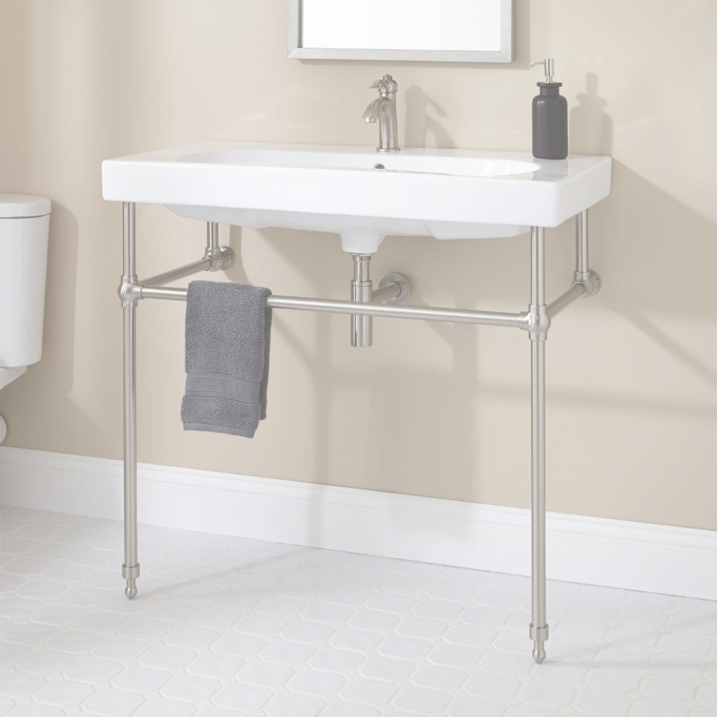 Glamorous Cleaning Metal Bathroom Vanities with regard to Set Metal Bathroom Vanity