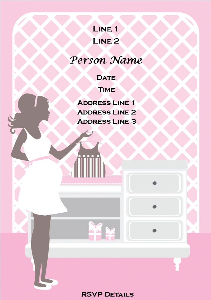 Glamorous Colors : Classic Free Baby Shower Invitation Templates Chevron With with regard to Awesome Baby Shower Templates Free