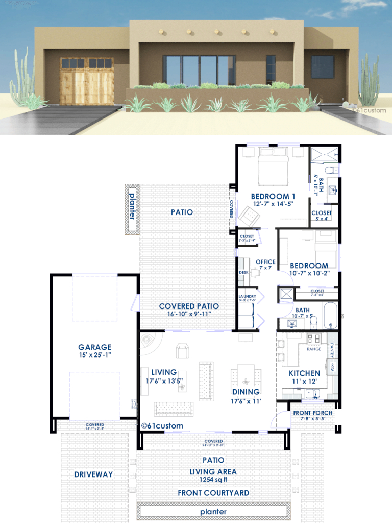 Glamorous Contemporary Adobe House Plan | 61Custom | Contemporary & Modern within Beautiful Modern House Floor Plans