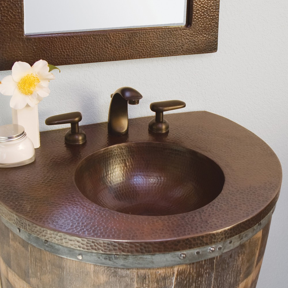 Glamorous Copper Bordeaux Vanity Top Bathroom Sink | Native Trails with regard to Set Bathroom Vanity With Top