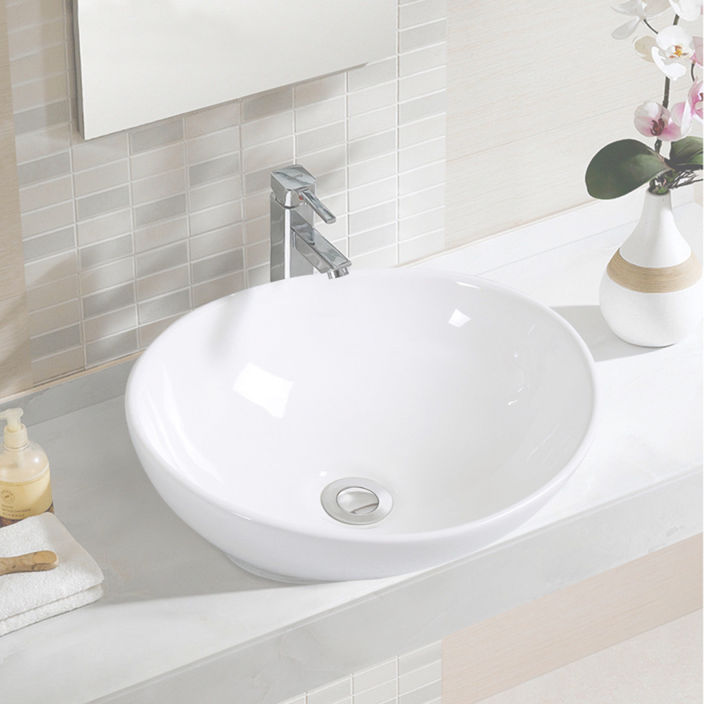 Glamorous Costway: Costway Oval Bathroom Basin Ceramic Vessel Sink Bowl Vanity inside Bowl Bathroom Sink