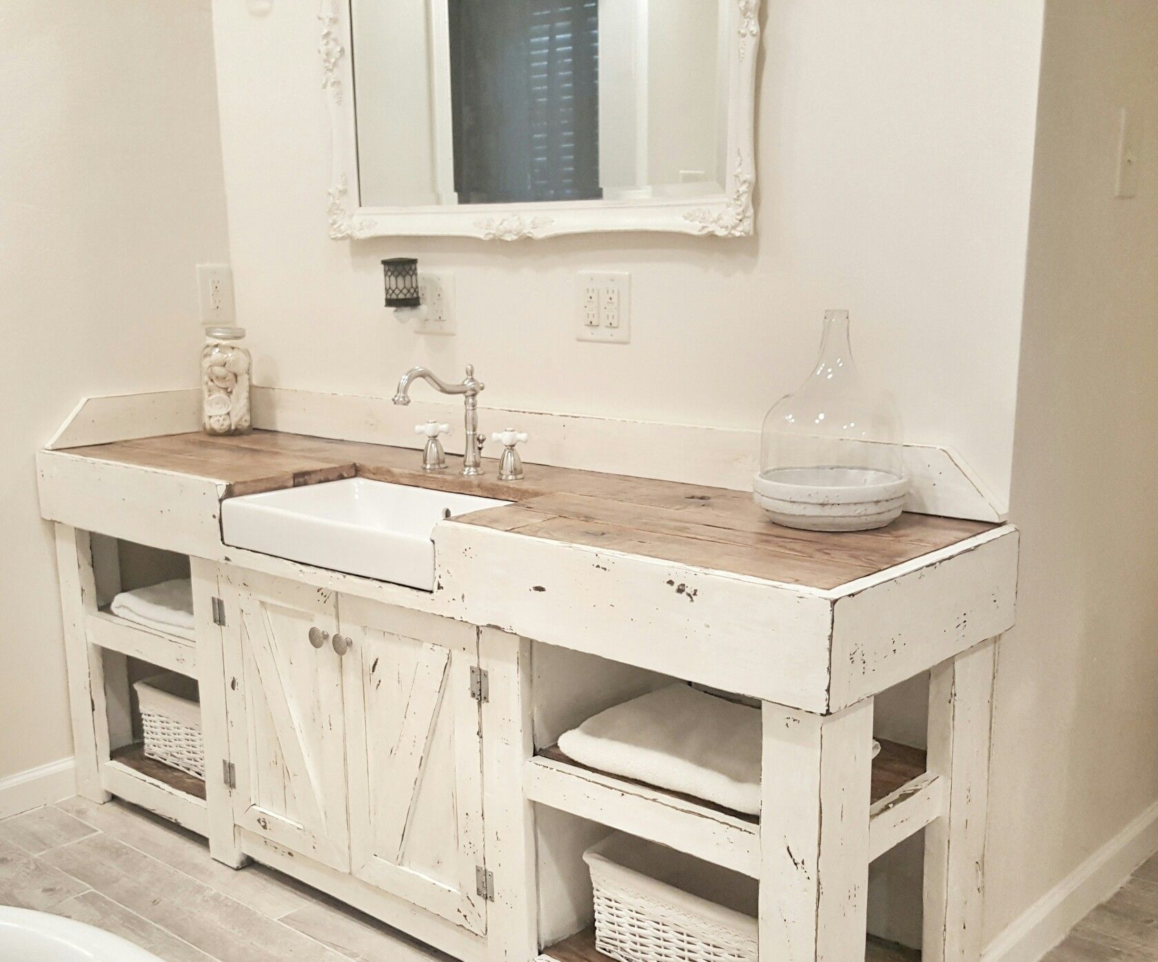 Glamorous Cottage Bathroom, Farmhouse Bathroom, Farmhouse Vanity, Farmhouse for Good quality Bathroom Farm Sink Vanity