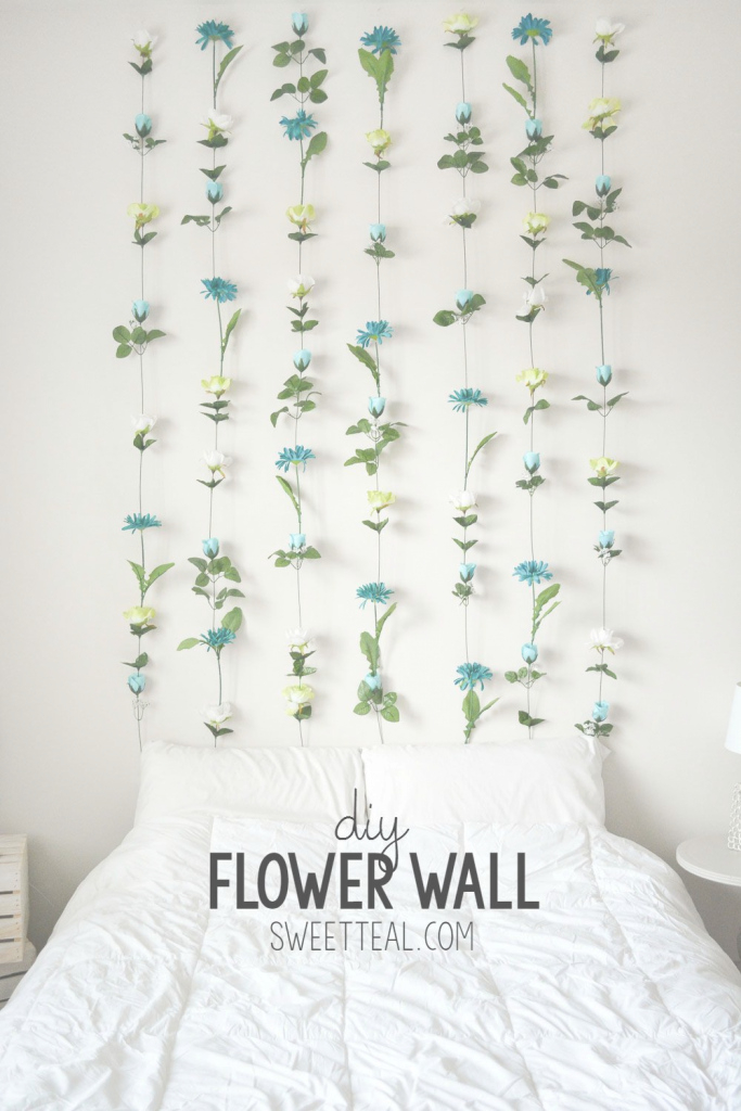 Glamorous Diy Flower Wall // Headboard // Home Decor | Pinterest | Wall throughout Diy Bedroom Decor