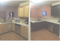 Glamorous Diy Painting Kitchen Cabinets – Before And After Pics! intended for Painted Kitchen Cabinets Before And After