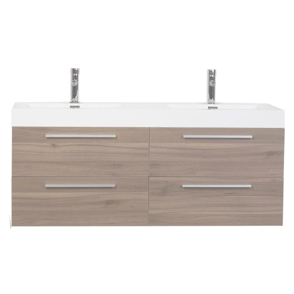 Glamorous Double Bathroom Vanity Set With Drawers In Walnut Tn-B1380-Wn within Beautiful 54 Bathroom Vanity