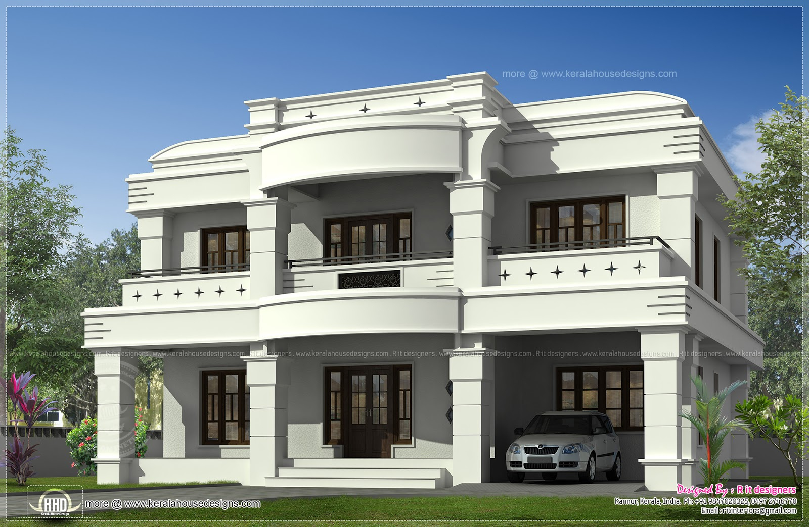 Glamorous Double Storied Luxury Home Exterior Kerala Design Floor - Kaf Mobile pertaining to Indian Home Exterior Design