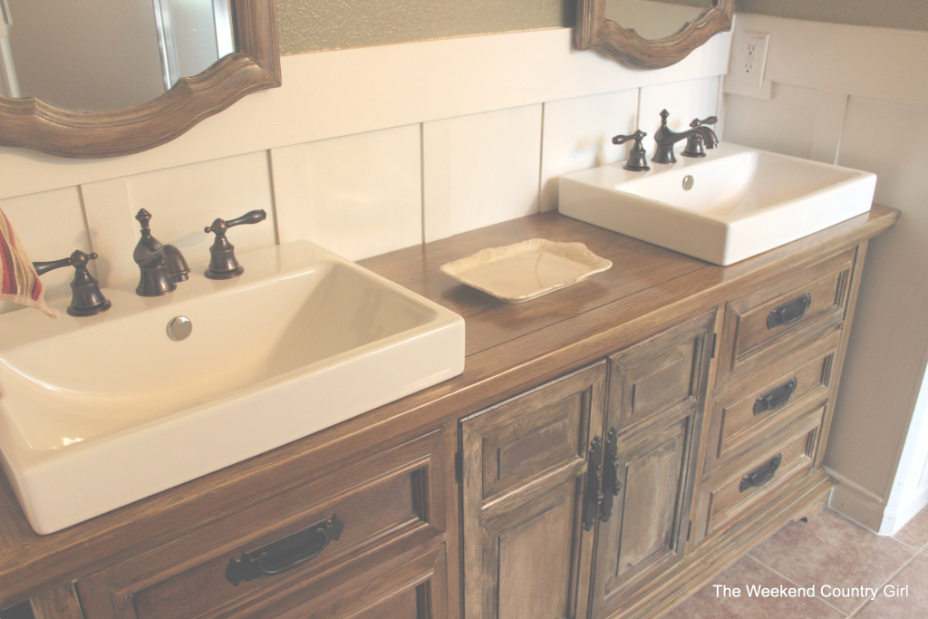 Glamorous Dresser To Bathroom Vanity | The Weekend Country Girl pertaining to Fresh Dresser Bathroom Vanity