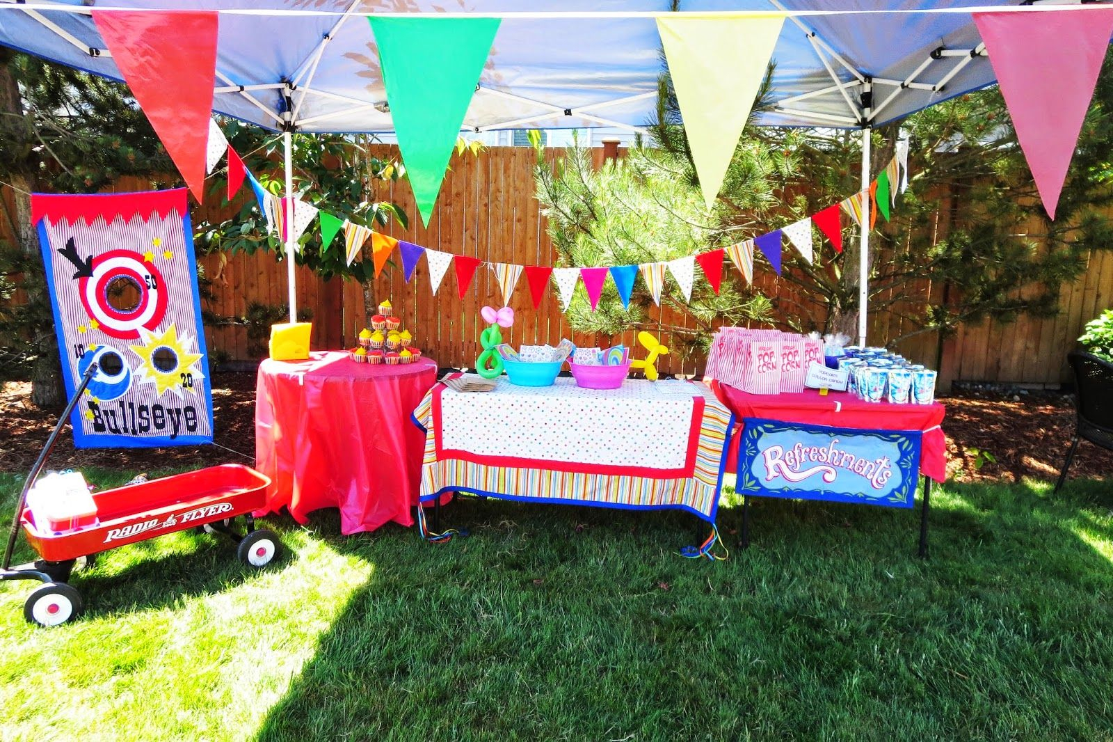 Glamorous Floor Plan Of A Backyard Carnival Party - Google Search | Kids intended for Backyard Carnival