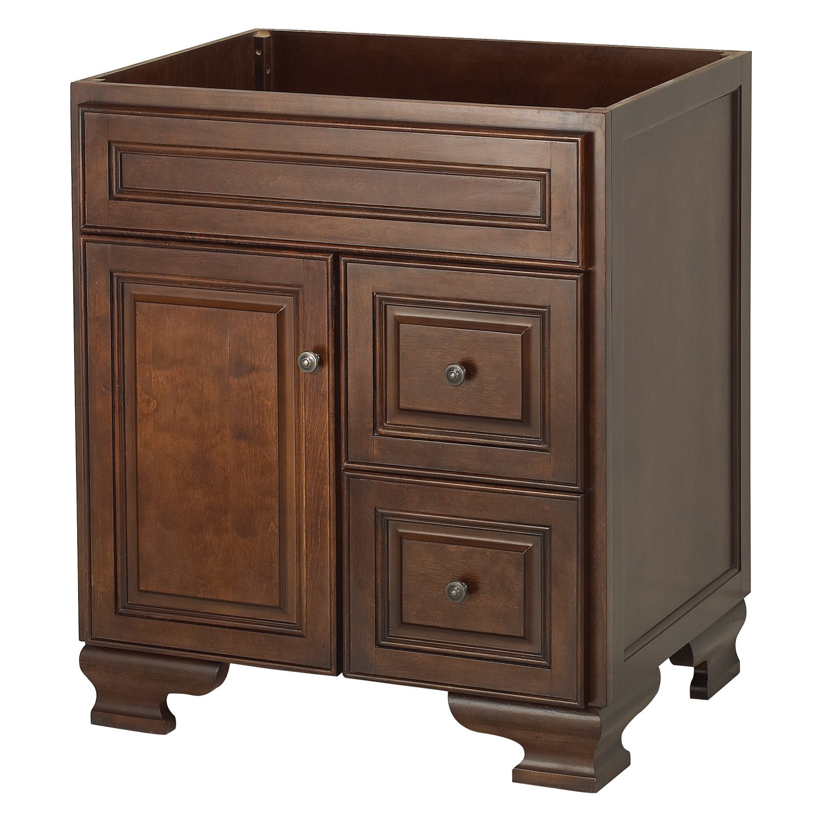 Glamorous Foremost Hawthorne 30 In. Dark Walnut Single Bathroom Vanity With within Inspirational Bathroom Vanity No Sink