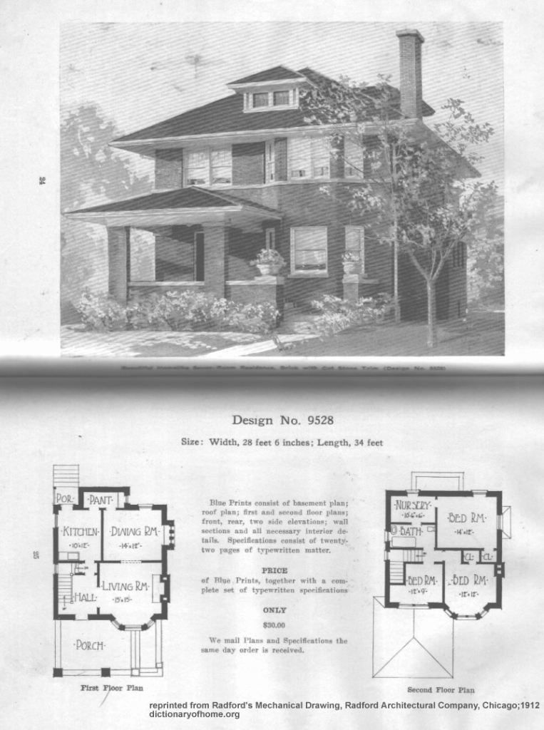 Glamorous Four Square House Floor Plans Quickly American Foursquare House for Good quality American Foursquare Floor Plans Images