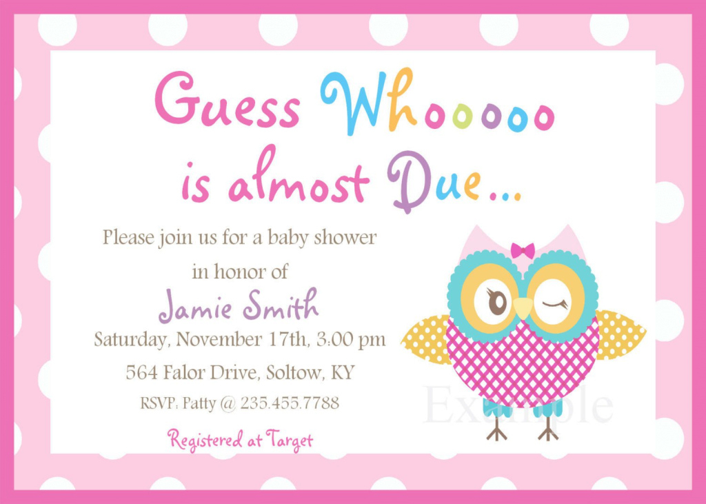 Glamorous Free Downloadable Baby Shower Invitations Templates - 28 Images inside Baby Shower Templates Free