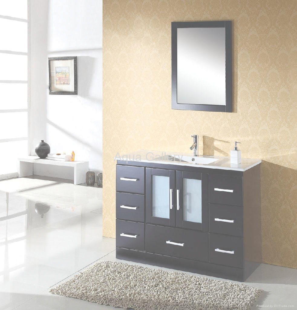 Glamorous Free Standing Single Sink Bathroom Vanity Sets X-025 - Aqua Gallery regarding Unique Free Standing Bathroom Vanity