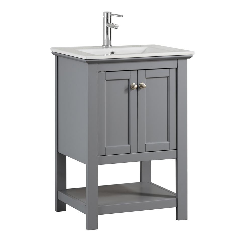 Glamorous Fresca Bradford 24 In. W Traditional Bathroom Vanity In Gray With inside Awesome Traditional Bathroom Vanity
