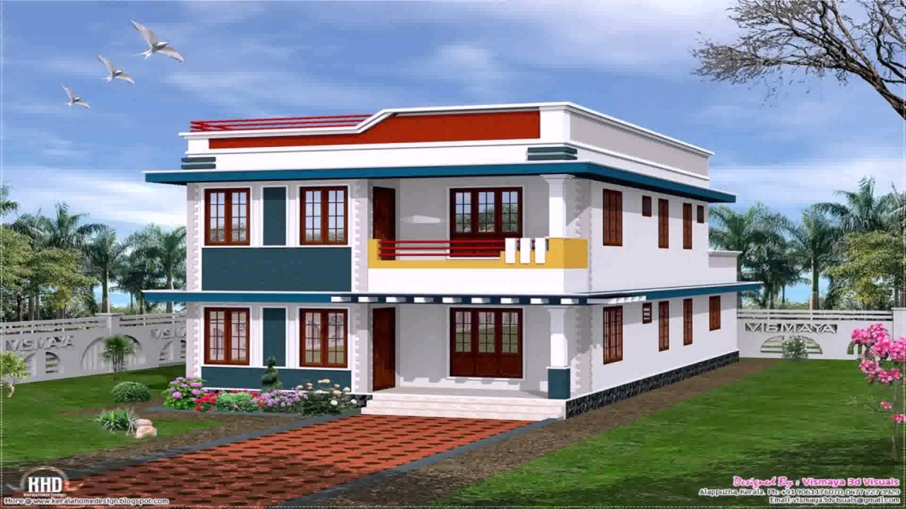 Glamorous Front Elevation Design Of House Pictures In India - Youtube inside Indian Home Elevation Design Photo Gallery