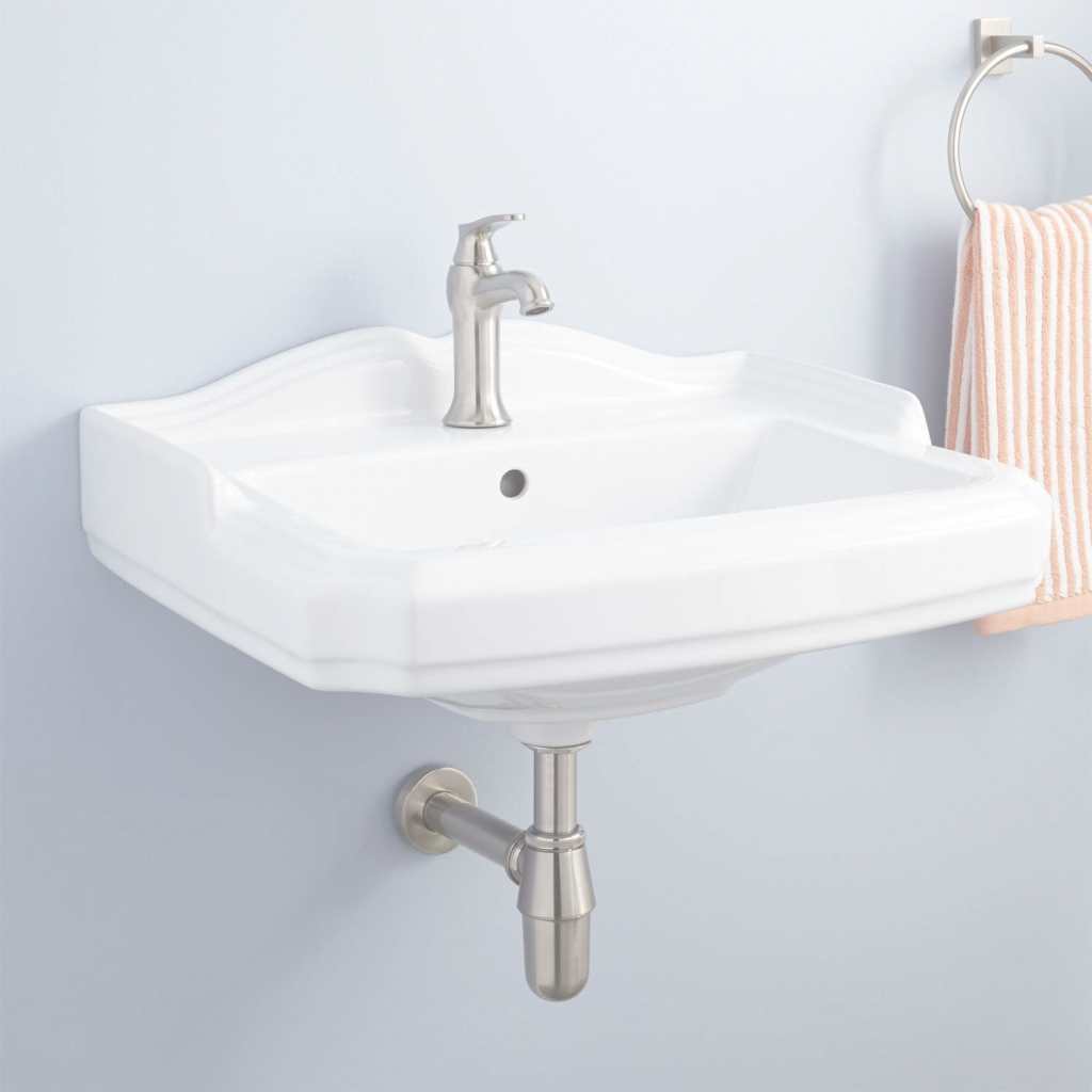 Glamorous Garvey Porcelain Wall-Mount Bathroom Sink - Bathroom pertaining to Wall Mount Bathroom Sink