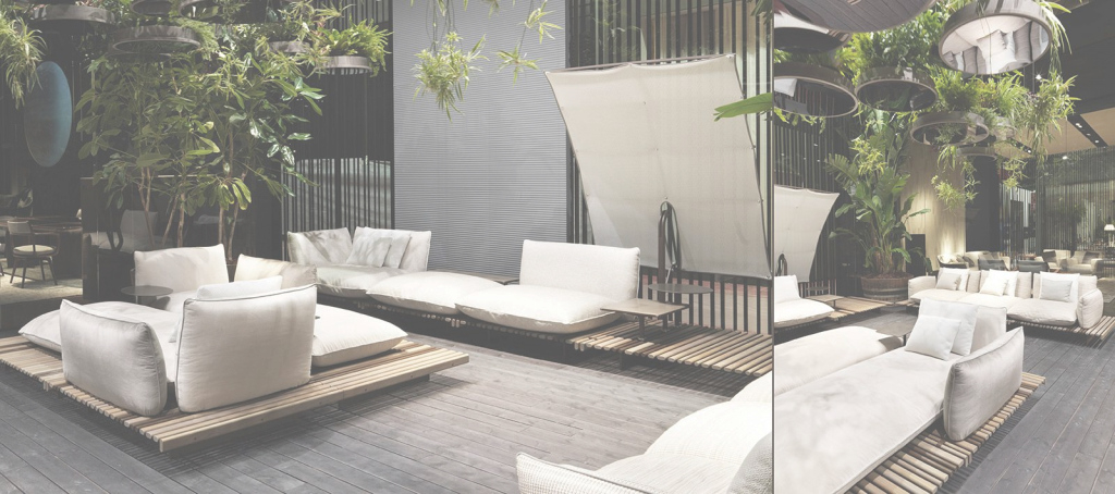 Glamorous Giorgetti S.p.a. Terrace Couch | House - Terrace/backyard regarding Terraced Backyard