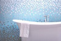 Glamorous Glass-Tile | Spec Ceramics within Blue Mosaic Bathroom
