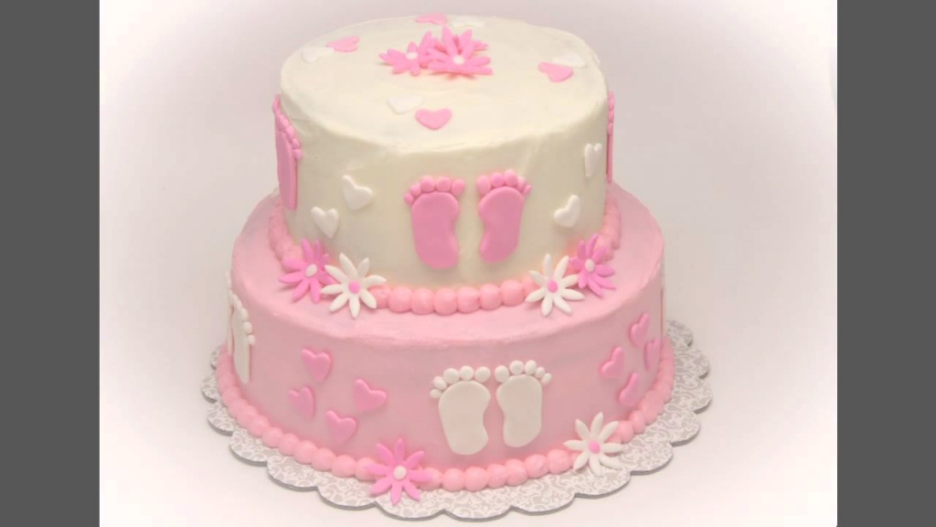 Glamorous Home Baby Shower Cake Decorations Ideas Girls - Youtube with Baby Girl Shower Cake Ideas