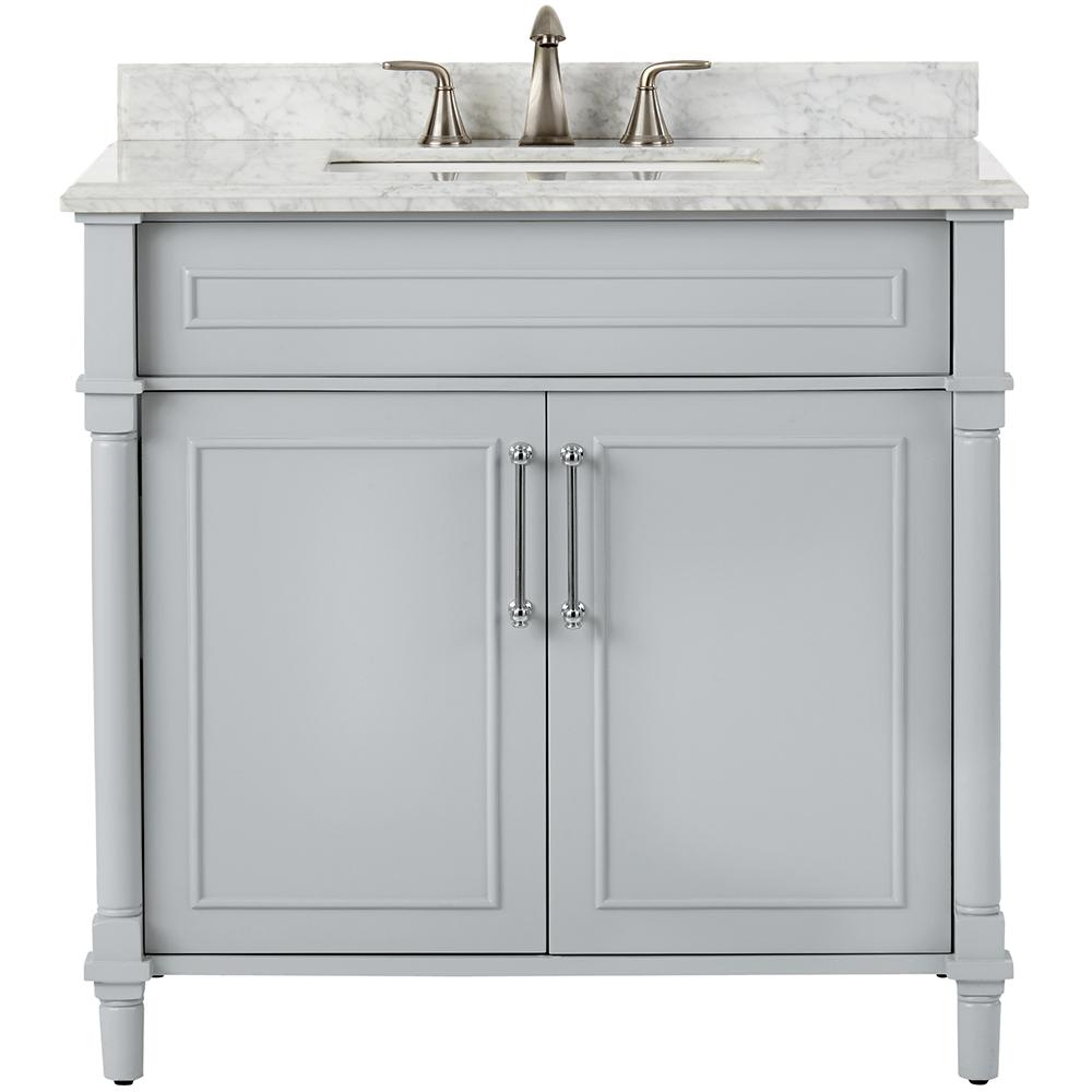 Glamorous Home Decorators Collection Aberdeen 36 In. W X 22 In. D Single Bath regarding 36 In Bathroom Vanity With Top