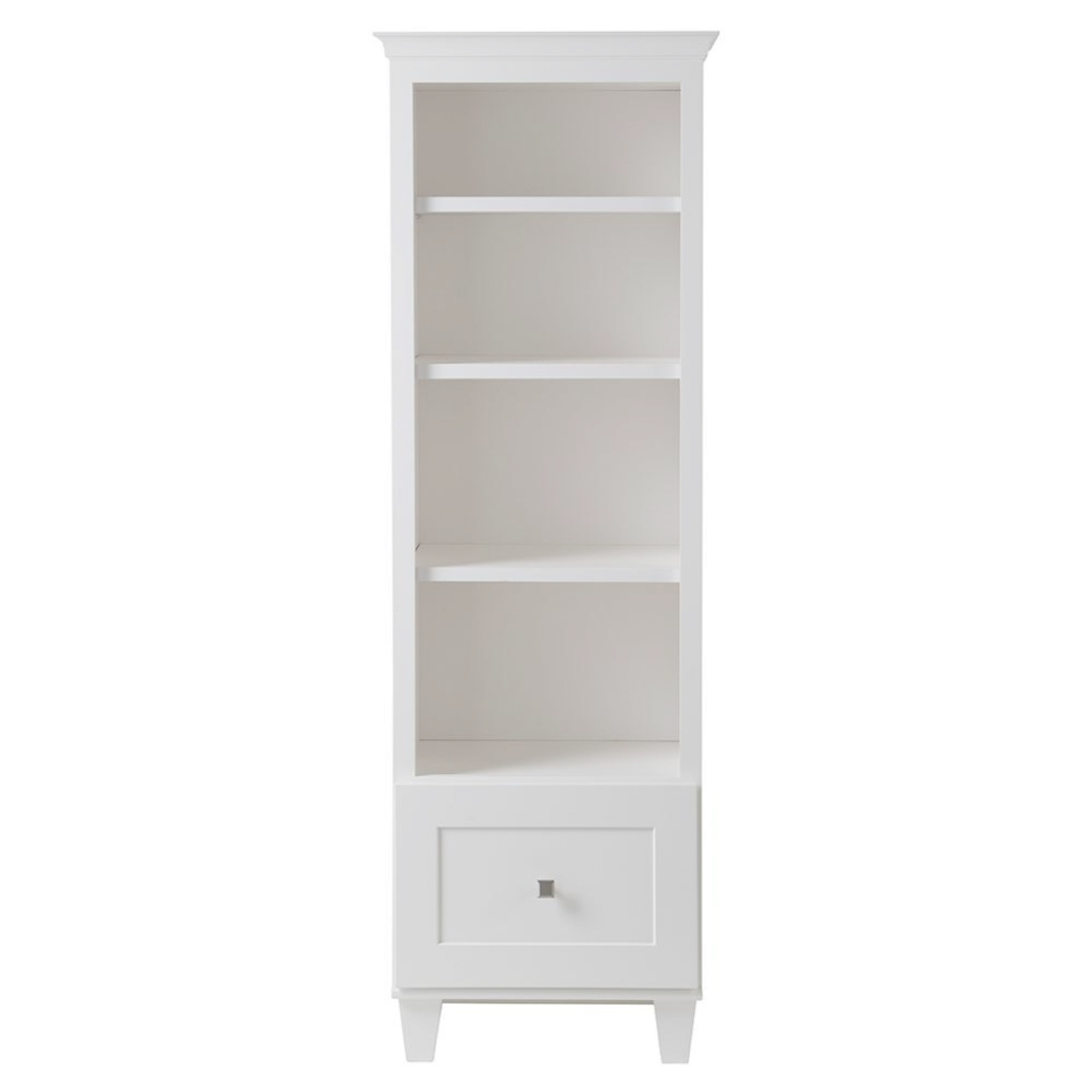Glamorous Home Decorators Collection Creeley 23-13/100 In. W X 69-4/5 In. H throughout Bathroom Floor Cabinet White