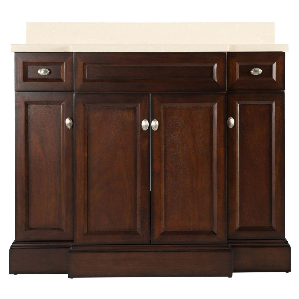 Glamorous Home Decorators Collection Teagen 42 In. W Bath Vanity In Dark intended for 42 Inch Bathroom Vanity Combo