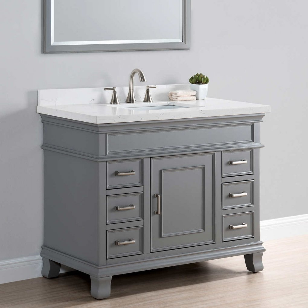Glamorous Home Design : Fascinating 42 Bathroom Vanity Cabinets Inch Tops within 42 In Bathroom Vanity