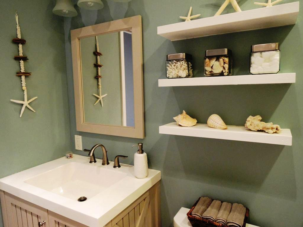 Glamorous How To Make A Seashell Bathroom Set Mirror : Restmeyersca Home regarding Beach Themed Bathroom Mirrors