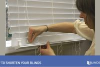 Glamorous How To Shorten Blinds – Wood And Fauxwood » Diy with regard to Set How To Remove Blinds From Window