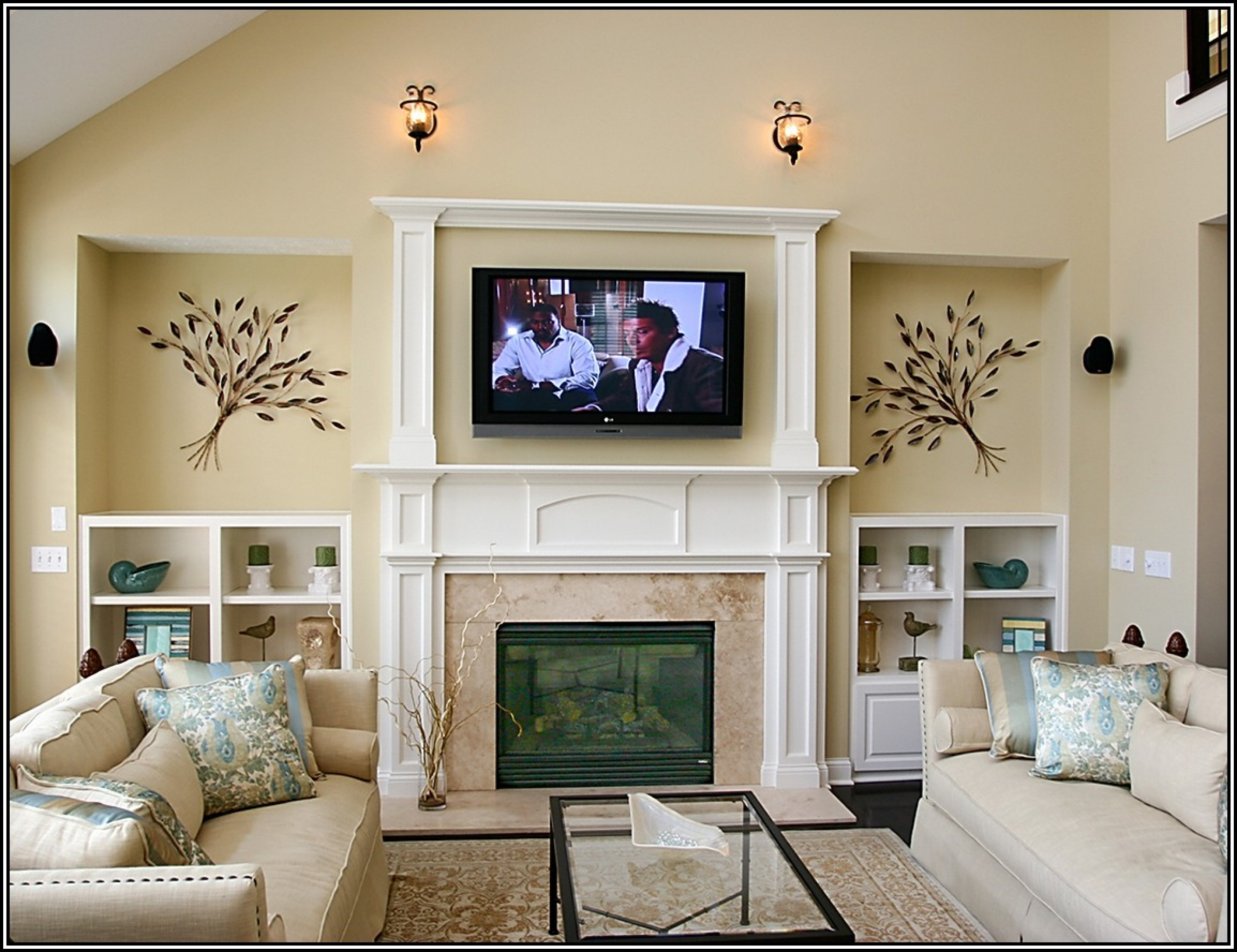 Glamorous Interior Design : Living Room Arrangements With Tv And Fireplace in Living Room Layout With Fireplace And Tv