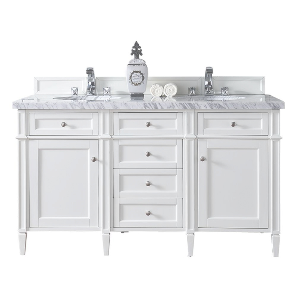 Glamorous James Martin Signature Vanities Brittany 60 In. W Double Vanity In with James Martin Bathroom Vanities