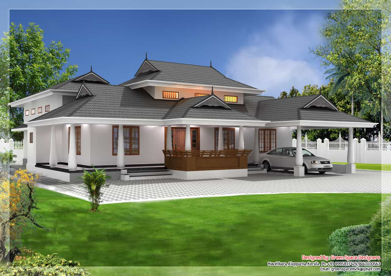 Glamorous Kerala Traditional House Plans With Photos | Modern Design with Kerala Traditional House Plans With Photos
