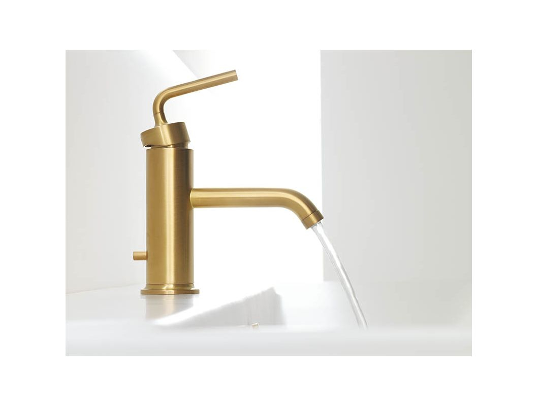 Glamorous Kohler K-14402-4A-Rgd Vibrant Rose Gold Purist Single Hole Bathroom throughout Gold Faucet Bathroom