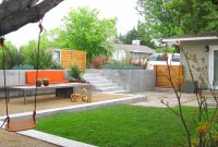 Glamorous Landscape A Simple Minimalist Sloping Backyard Easy Pertaining To regarding Fresh Sloped Backyard Ideas