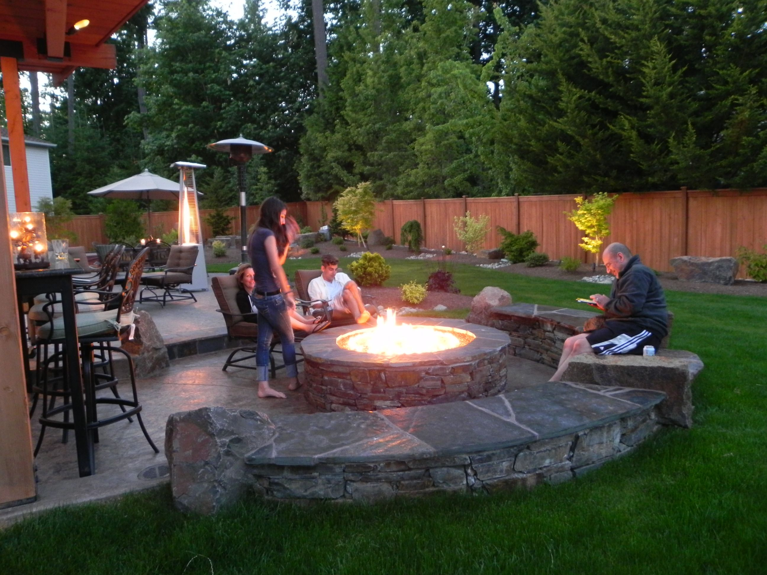Glamorous Landscape Design In Sammamish | Sublime Garden Design | Landscape intended for Review Backyard Landscaping Ideas With Fire Pit