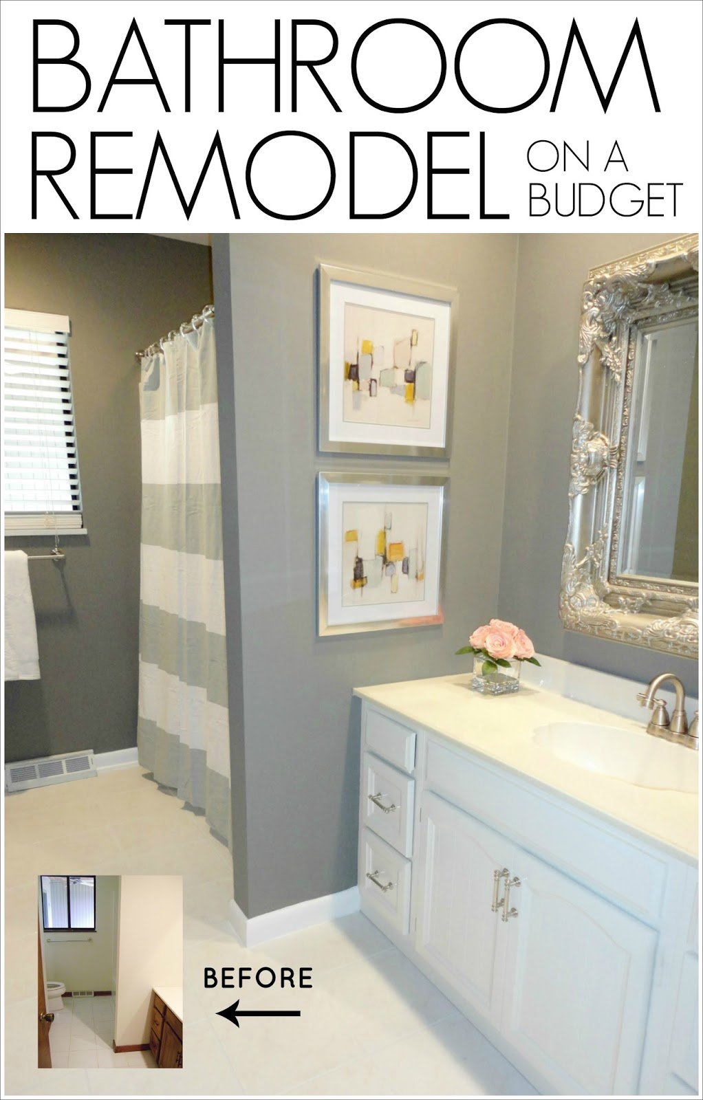 Glamorous Livelovediy: Diy Bathroom Remodel On A Budget with Inexpensive Bathroom Remodel
