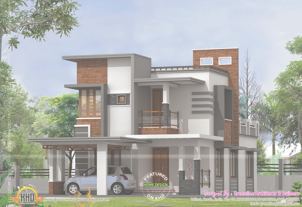 Glamorous Low Cost Contemporary House - Kerala Home Design And Floor Plans throughout Best of Kerala Style House Plans With Cost
