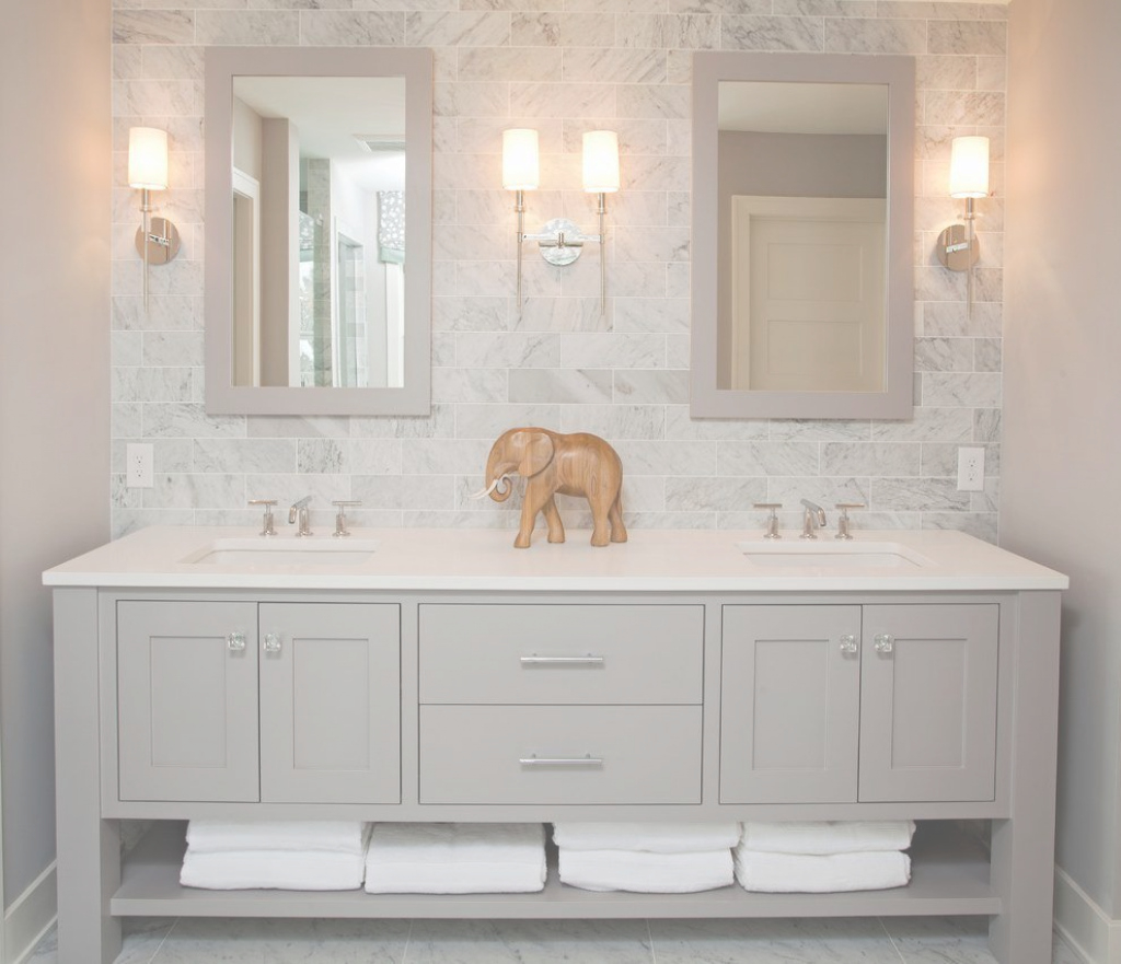 Glamorous Luxury Bathroom Vanities Bathroom Beach Style With Gray Backsplash in Unique Luxury Bathroom Vanity