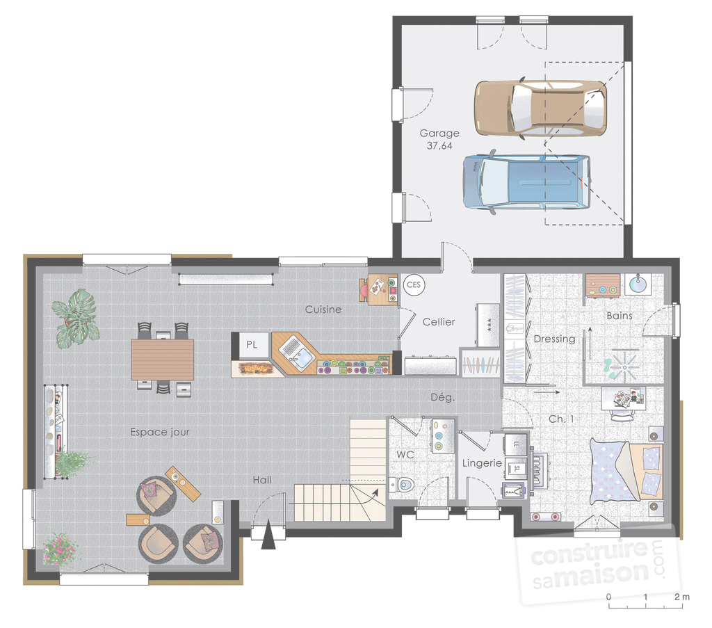 Glamorous Maison Nergie Positive 2 D Tail Du Plan De A Energie with regard to Plan De Maison