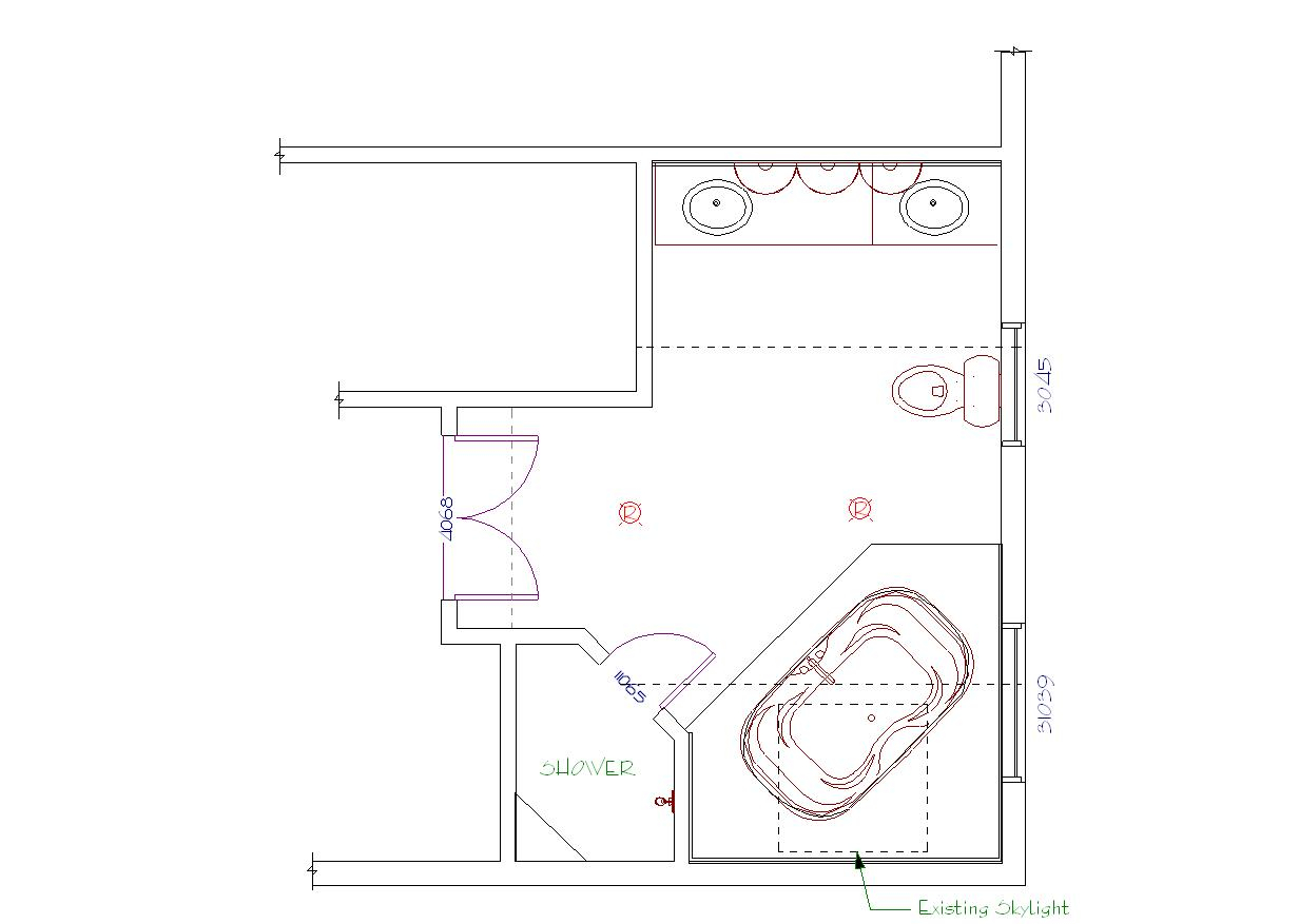 Glamorous Master Bathroom Floor Plan - House Plans | #26885 in Master Bathroom Layouts
