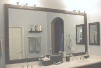 Glamorous Master Bathroom Mirror Ideas Double L Shaped Brown Finish Mahogany within High Quality Master Bathroom Mirrors