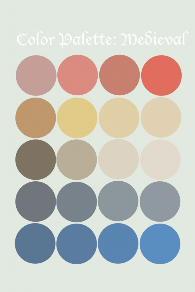 Glamorous Medieval Color Palette - Google Search | Art | Pinterest | Medieval pertaining to 70S Color Palette