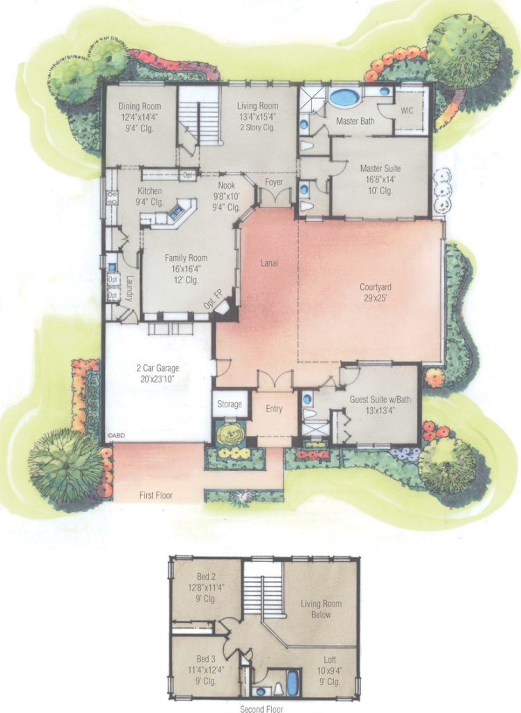 Glamorous Mexican House Plans With Courtyard Arts Plus Pictures Floor Plan regarding Hacienda House Plans Center Courtyard Image