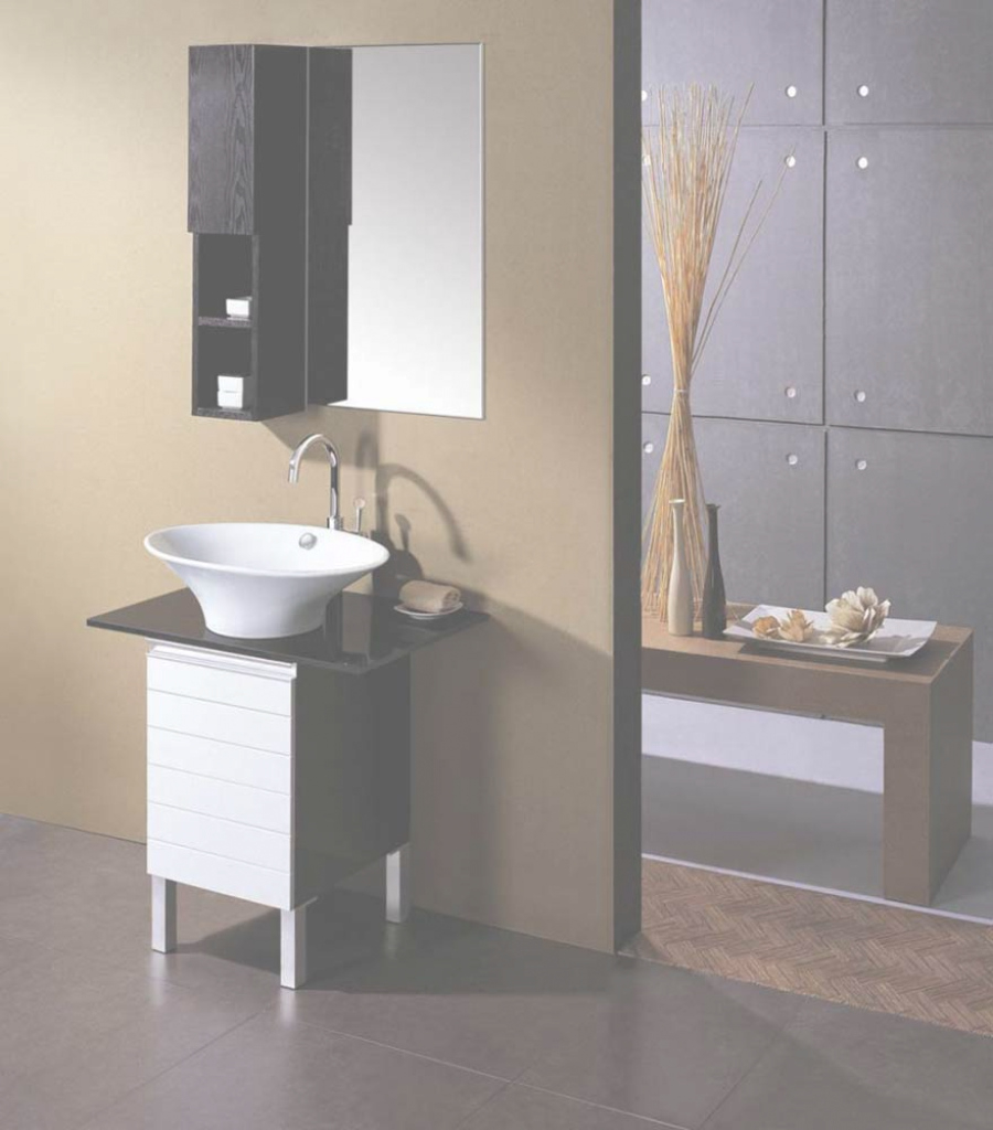 Glamorous Modern Design Of Small Bathroom Vanityikea With White Round Sink for Unique Small Bathroom Vanity With Sink