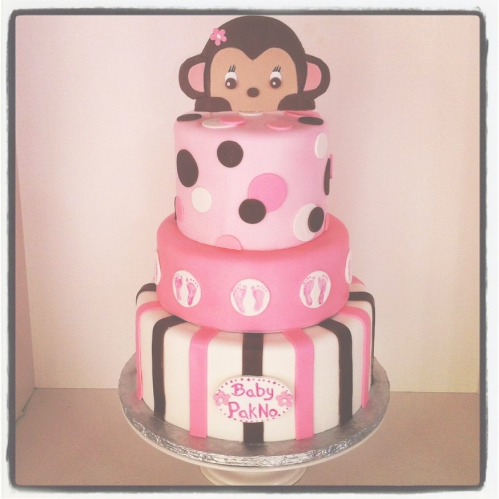Glamorous Monkey Baby Shower Cake - Cakecentral with regard to Lovely Baby Shower Monkey Cakes