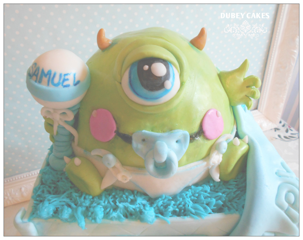 Glamorous Monster Inc Baby Shower Cake | Dubey Cakes | Pinterest | Shower for Monsters Inc Baby Shower Cake