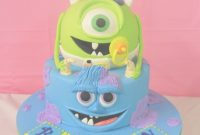 Glamorous Monsters Inc Baby Shower Cake – Annette's Heavenly Cakes regarding New Monsters Inc Baby Shower Cake