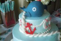 Glamorous Nautical Baby Shower Cake Publix Awesome Seascape Shower Soiree For for Baby Shower Cakes Publix