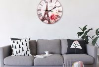 Glamorous New Home Decoration Roman Numeral Wall Clock Silent Living Room Wall with Lovely Living Room Wall Clocks
