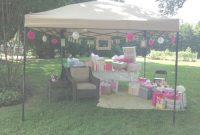 Glamorous Outdoor Baby Shower. Mayve A Nice New Rocker Under There For Mommy with Outdoor Baby Shower Ideas