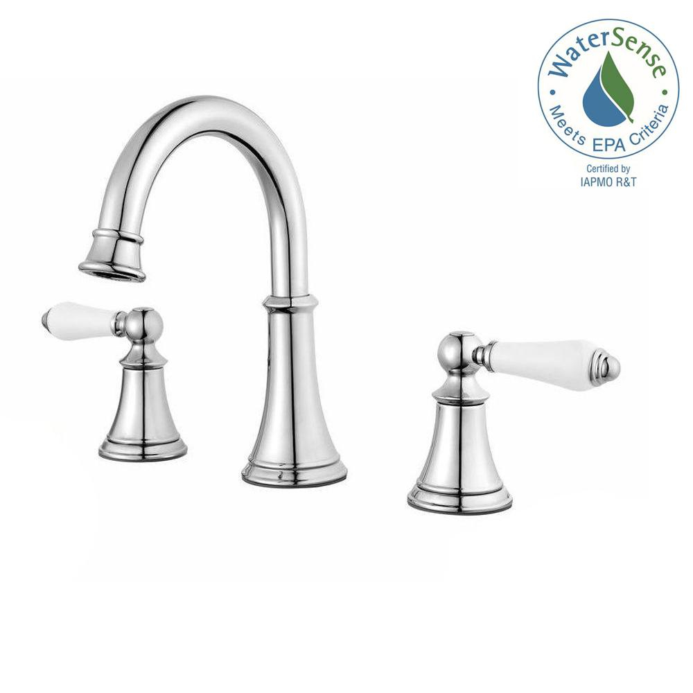 Glamorous Pfister Courant 8 In. Widespread 2-Handle Bathroom Faucet In for Review Bathroom Faucet Handles